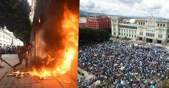 Risultato immagine per Guatemala: Hartos de tanto «abuso», queman la sede del Congreso